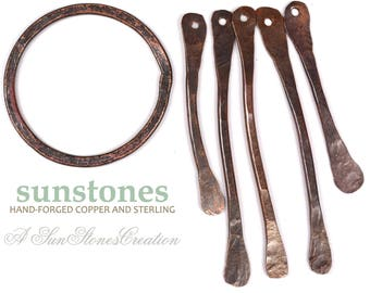 Hand Forged Copper Necklace Component and Twigs F0488