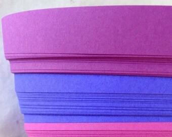 "1"" Weaving Paper Strips~ Bright Purples (100 strips)"
