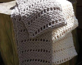 Crochet Pattern - Linen Cowl Infinity Scarf DK Instant Download PDF
