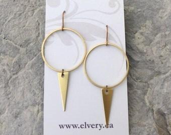 Large drop & Triangle Earrings