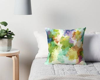 Watercolor Pillow, Pastel Throw Pillow, Abstract Art Pillow, Pastel Cushion Cover, Abstract Pillow, Art Pillow, Pillow Cover, Sofa Pillow