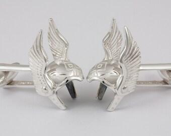 Thor Helmet Cufflinks, Sterling Silver, personalized