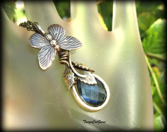 Butterfly Blue London Quartz  Spring  Necklace