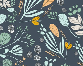 Leah Duncan FABRIC - Morning Walk Voile - Bare Nopal in Gloom
