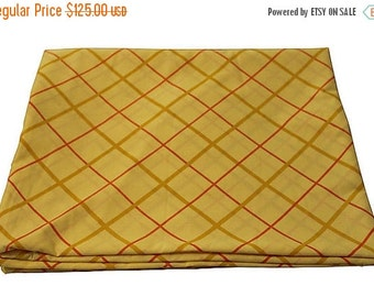 BIG SALE - New Vintage Duvet Cover -Yellow Plaid - New Twin Full Queen - Blanket Cover