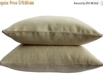 BIG SALE - Raw Silk Pillow Cover - 20 Inch Square - Creamy White