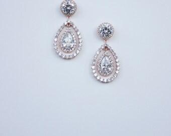 Bridal Earrings Bridal Teardrop Earrings Cocktail Earrings Wedding Earrings Jewelry Swarovski Water Drop Earrings Art Deco Earrings,