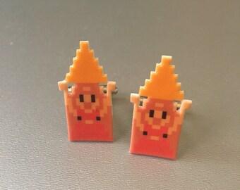 Zelda with triforce cufflinks
