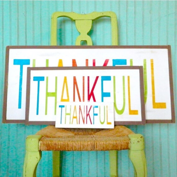 Thankful Art. Grateful Sign. 12.5 x 25.5 inch Rustic wood sign. Distressed sign.  Rustic kitchen decor. farmhouse decor. dining room art.