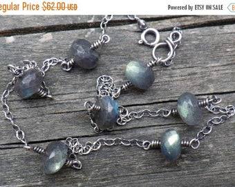 20% OFF TODAY Labradorite sterling silver layering necklace