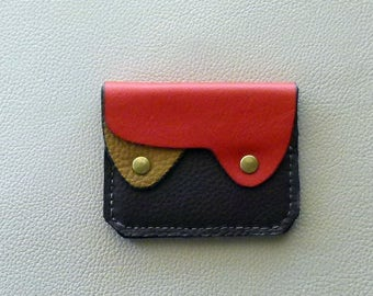 Autumn Colors Leather Wallet, Small Leather Wallet, Leather Coin Purse