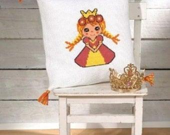 Princess Pillow Cross Stitch Kit by Permin