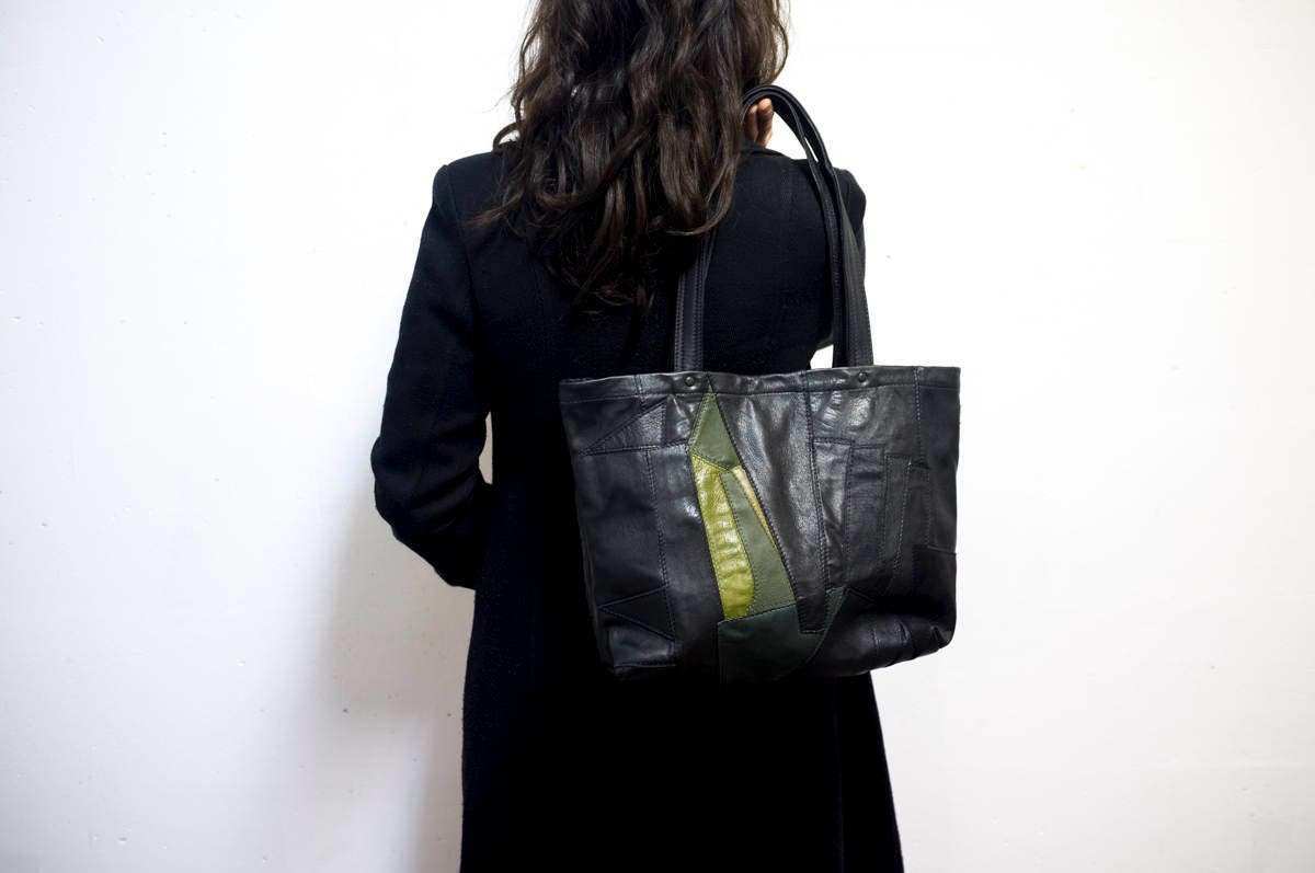 Zero Waste RECLAIMED Leather Remnant Tote Bag