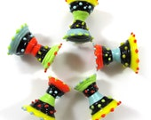 Lampwork beads, Lampwork beads set, ethnic dresses,  colorful winter (5) SRA