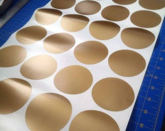 """Gold Circle decals,  3"""" diameter and a package of 40"""