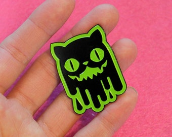 Slime Cat Enamel Pins
