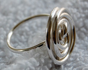 Sterling Ring, Handmade Size 9