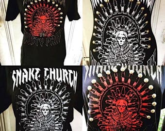 Embellished Snake Church Tees And Tanks