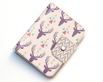 Vinyl Passport Case - Tribal1 / traveller, deer, tribal, arrows, passport, vinyl, gift, woman's, wallet, case, animal, chevron, woodland