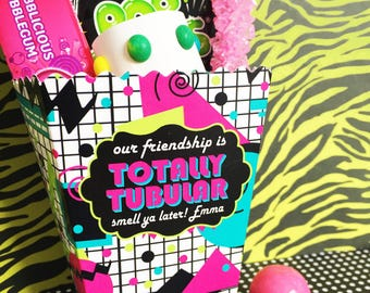 80's Birthday Party,treat box,80's Popcorn Box, Personalized favor Box, totally 80's Favor boxes,80's party favors,Treat box, 1980's