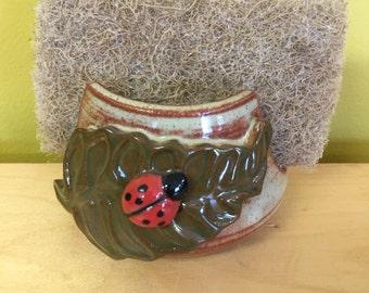 Leaf & Ladybug Sponge Holder