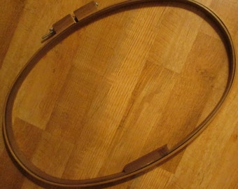 Large Vintage Wooden Quilting Hoop - 27 inches by 17 inches Oval