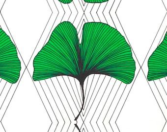 Ginkgo Biloba - IKEA Anvandbar Cotton Fabric