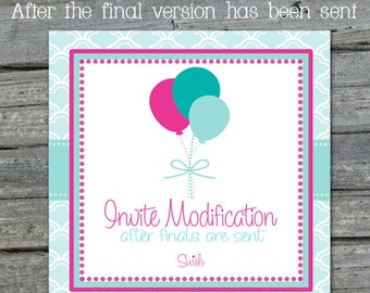 Invitation Modification - after order completion