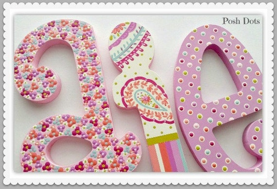 wooden letters nursery letters playroom letters wedding letters