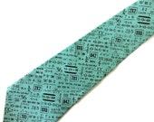 Mathematics Teacher Turquoise Necktie with Free Gift Box, Math Teacher Tie, Man Teacher Gift, Male Teacher Gift, Calculus Teacher Tie
