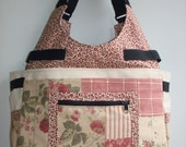 Custom Order for bfordy-Large Knitting/Crochet Tote Bag/PATCHWORK ROSE