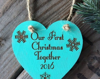 Turquoise Ornament, Our First Christmas Ornament