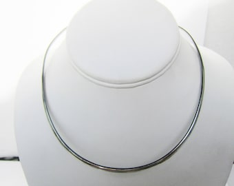 Sterling Silver Band Collar Necklace - Wear with Pendants      1394B