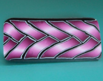Small Polymer Clay Purple Braid Cane -'Intricacies of the Heart' (37C)