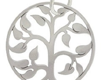 large silver plated bronze tree of life pendant, natural silver bronze tree of life pendant, tree of life pendant, silver tree of life,