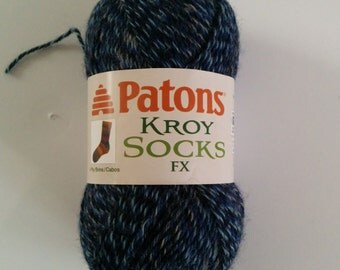 one skein Patons Kroy Socks FX in Cadet Colors