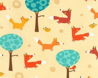 YARD - Robert Kaufman Fabric, Park Fox, Creatures and Critters, Amy Schimler, Cotton Fabric - SALE
