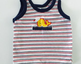 Vintage 80s Whale Tank Top 6-9 months