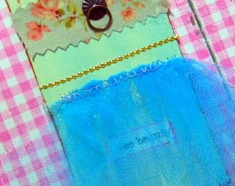 Gift tag - handmade, Pink, See beauty