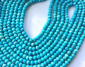 2mm turquoise roundelles