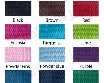 """15 yards Cotton Webbing - 1.25"""" Heavy Weight for Key Fobs, Purse Straps, Belting - SEE COUPON"""
