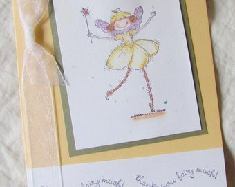 Handmade Greeting Card - Stampin' Up - thank you - ThAnK YoU FaiRy MuCH - blank inside for your personal message of thanks
