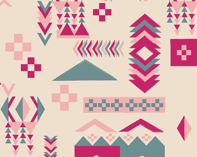 Indie Boheme fabric, Bohemian Fabric, Southwestern Fabric, Fabric Shoppe, Boho decor, Art Gallery, Woodblock Spirit Crips- Choose your cut