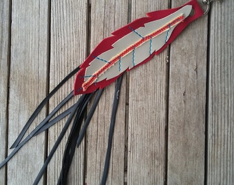 Feather tassle made from up cycled materials - Bike Accessories