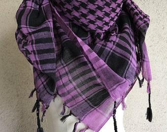 Purple Kefiyah scarf