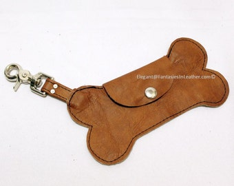 Dog Bone Brown Leather Pouch (MIS1280