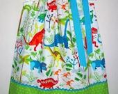 Dinosaur Dress Pillowcase Dress with Dinosaurs Girls Dress with T Rex Dinosaur Party Dinosaur Birthday baby dress toddler dress Summer Dress