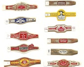150 CIGAR BAND Labels -new old stock cigar bands lithographed in 1930 ++++. There are 10 each of 15 designs.