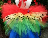 custom listing for Erica M Short Tutu with long ruffled train skirt in white and royal with red accents and royal/white/red bustle