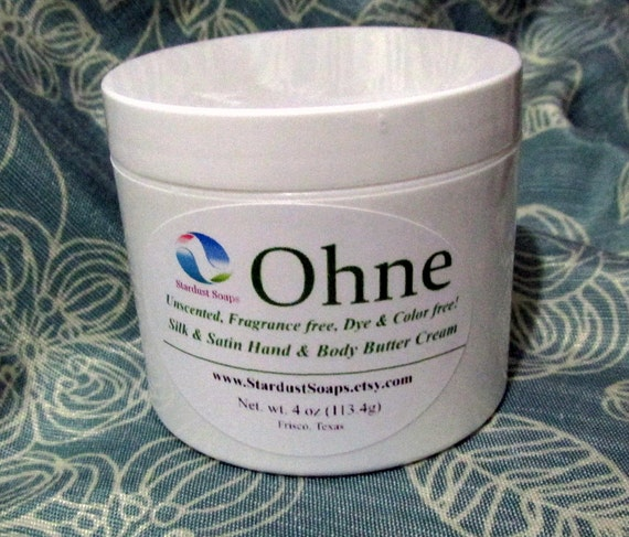 "Unscented ""Ohne"" CREAM (creamy Fragrance Free Cream) Handcrafted, moisturizing, nourishing, great gift Cream, stardust soaps"